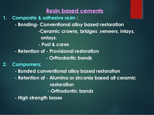 composite resin post operative instructions