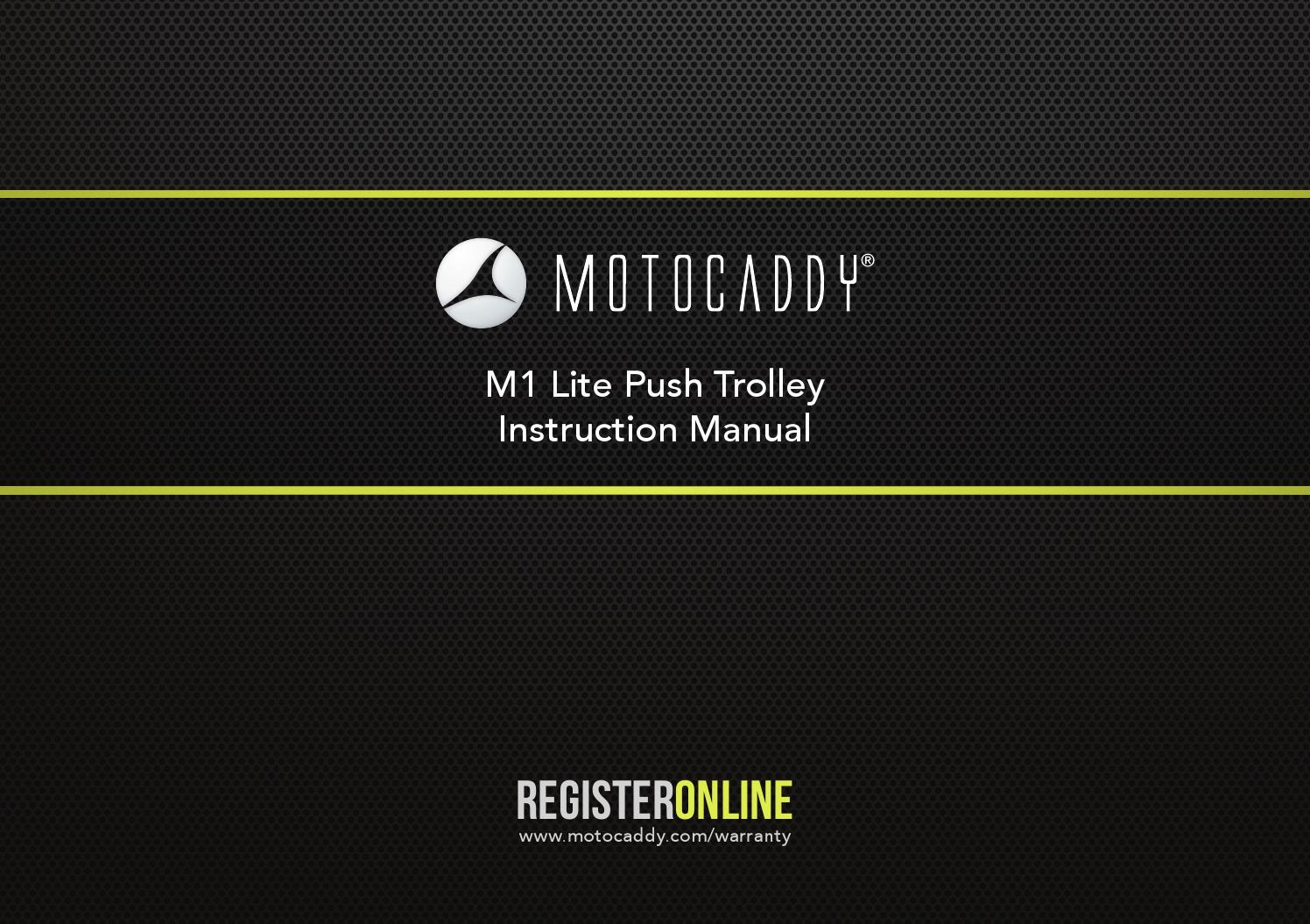 motocaddy m1 lite instructions